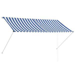 STORE - STORE BANNE  Auvent rétractable 250x150 cm Bleu et blanc