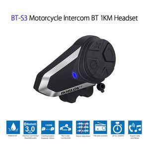 INTERCOM MOTO réglementations Bluetooth BOBLOV BT-S3 Motorcycle