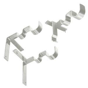 SUPPORT TRINGLE 3pcs double support de tringle à rideau support mu