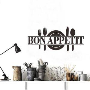 STICKERS Bon appétit alimentaire stickers muraux cuisine sa