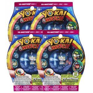 CARTE A COLLECTIONNER Lot de 4 sachets de 2 médailles Yo-Kai Watch