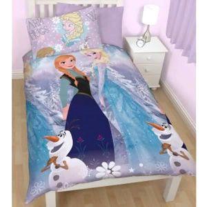 HOUSSE DE COUETTE ET TAIES Parure de lit enfant La Reine des Neiges 2 Soeurs