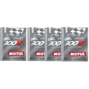 HUILE MOTEUR Huile moteur - MOTUL 104239 300V HIGH RPM 0W20 - 8