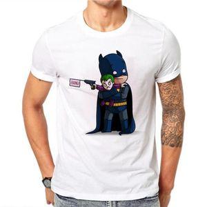 T-SHIRT 100% Coton Batman Joker Adultes T-shirts Hommes O-