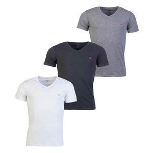 T-SHIRT Lot de 3 tee-shirts col V Diesel Michael en coton