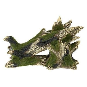 AQUARIUM Rosewood Blue Ribbon Rock & Wood Moss Covered Tree