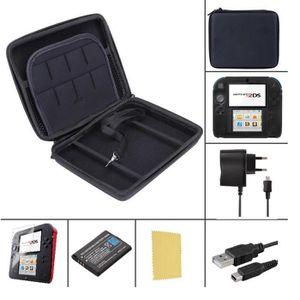 PACK ACCESSOIRE Pack Premium 6 en 1 Nintendo 2DS - Noir - chargeur