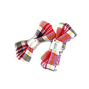 Boucle d'oreille Boucles d'oreilles en tissu écossais rouge tartan: