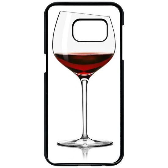 Coque samsung galaxy s7 verre de vin