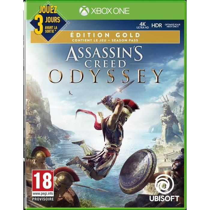 JEU XBOX ONE Assassin's Creed Odyssey Édition Gold Jeu Xbox One