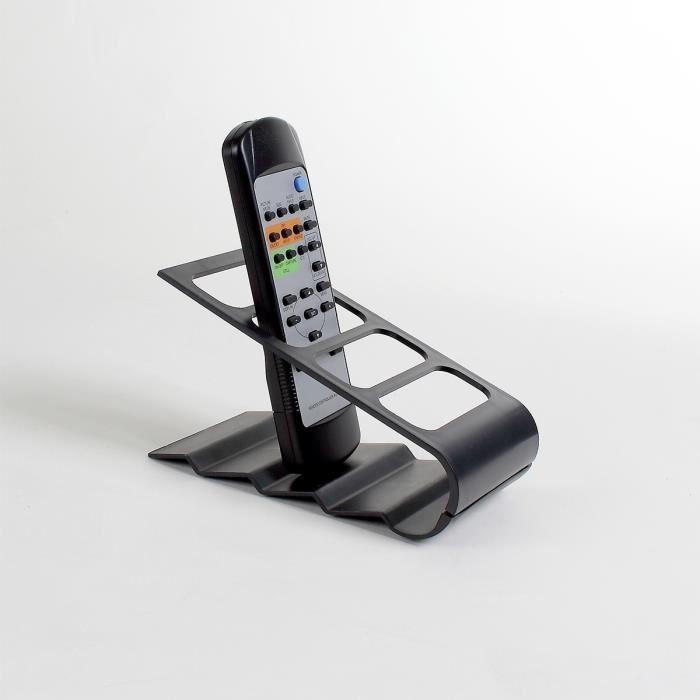 Support pour télécommandes noir Noir