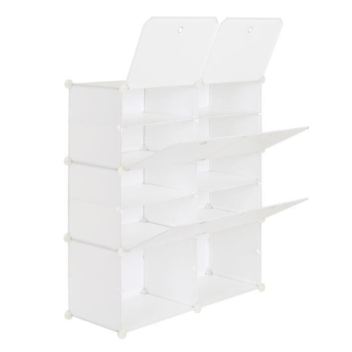 Porte-chaussures portable à 5 niveaux, 20 paires, 10 grilles, étagère tour, meuble de rangement, extensible, pour talons, bottes