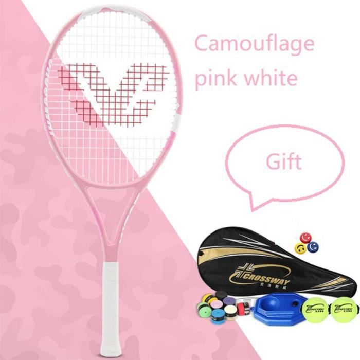 Professional tennis racket single adult unisex suit with bag coach beginners holding a ball racket