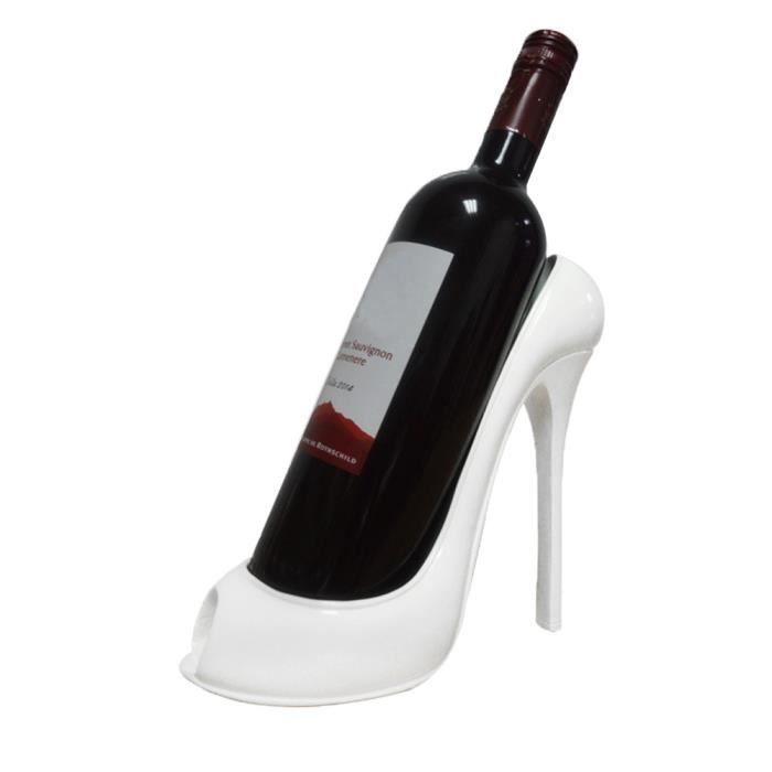 Casier À Vin Talon Haut Chaussure Porte-Bouteille Stockage Mariage Fête Décor Ornement Gif Xfm70831625Wh