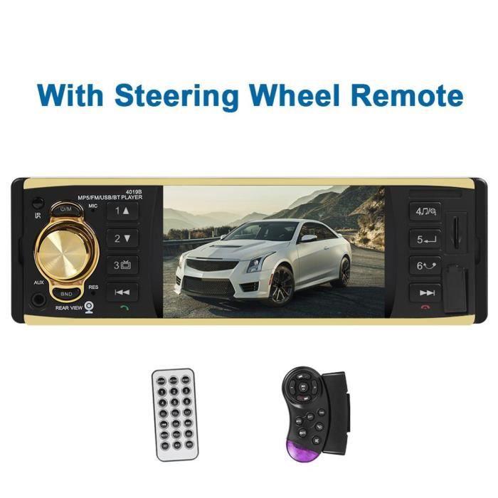 4019B 4.1 pouce 1 un Din Autoradio Audio stéréo AUX FM Radio Station Bluetooth Autoradio Support caméra de recul - Type 03