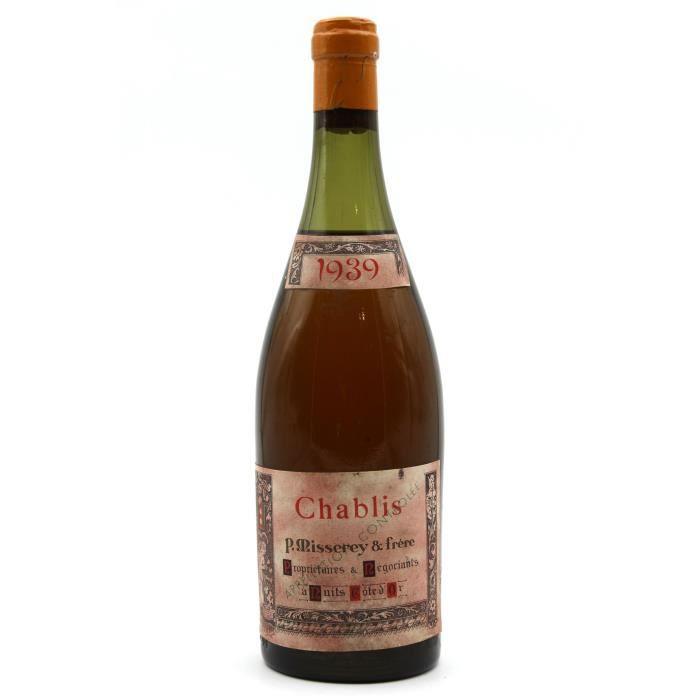 Chablis 1939 - P Misserey amp Frère - Vin Blanc- 75cl - AOC - Bourgogne
