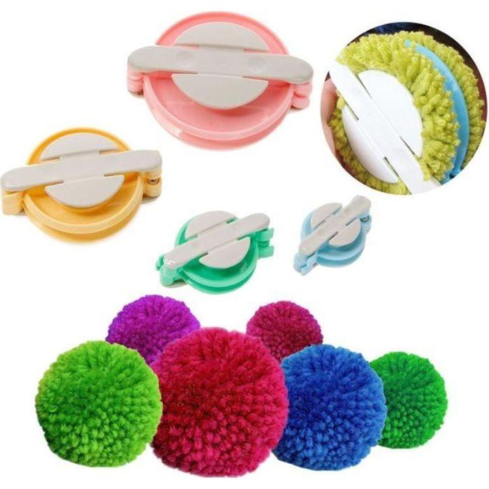 Outils et accessoires de couture,Machine à pompon,1 ensemble,boule de peluche,tissage d'aiguille,outil de tricot,bricolage,couleur