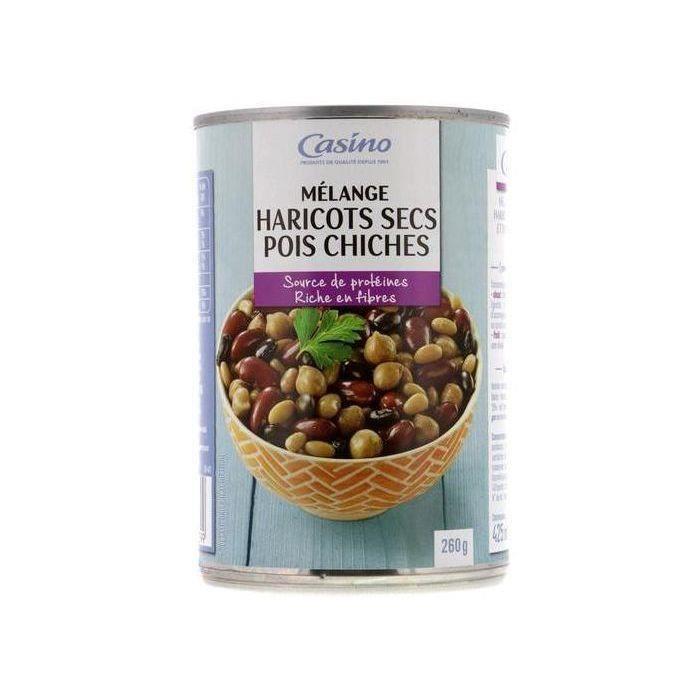 CASINO Mélange Haricots secs et Pois chiches - 260 g