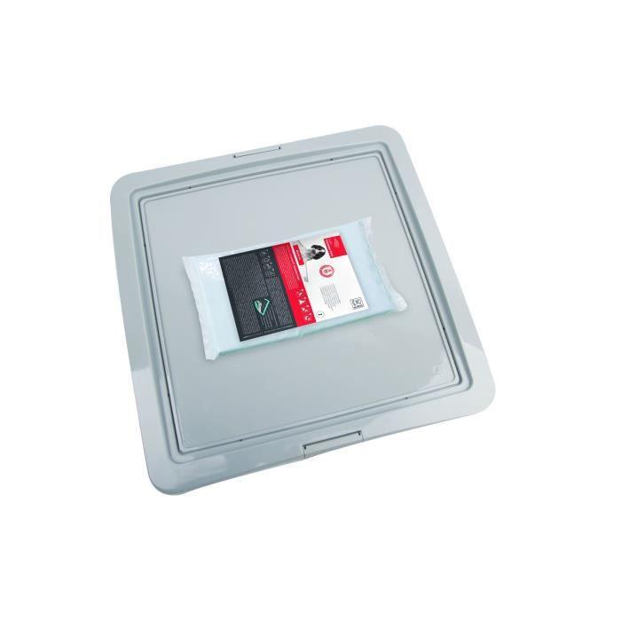 M-PETS - Kit propreté - Gris - 60 x 60 cm - Pour chien