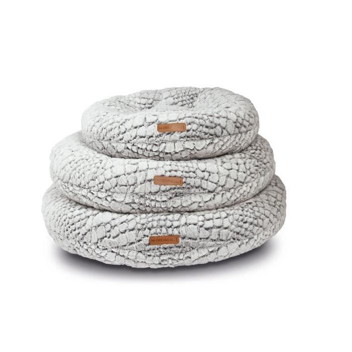M-PETS - Snake Coussin - Blanc et noir - L - Pour chien