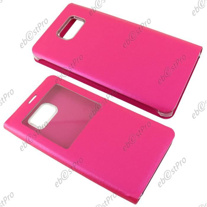 ebestStar Housse Pochette Protection Coque Etui type S-View Samsung Galaxy Note5 Note 5 N920F, Rose +Film
