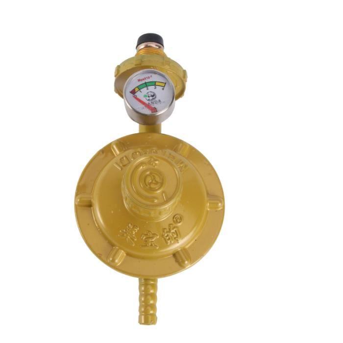 Régulateur de gaz propane avec manomètre Manomètre Jauge de niveau pour BBQ chauffe-eau genie thermique - climatique - chauffage