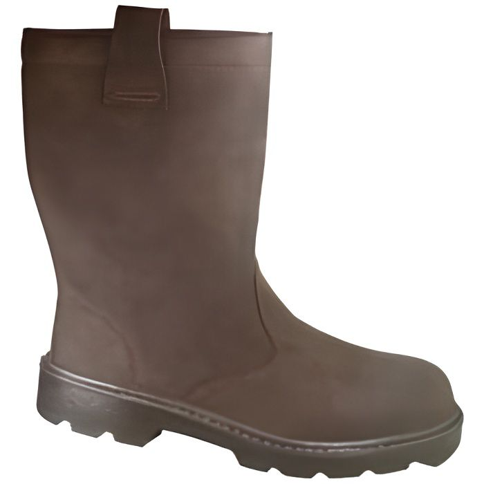 Bottes Fourrees KAMA S3 Taille 39 CUIR MARRON -…
