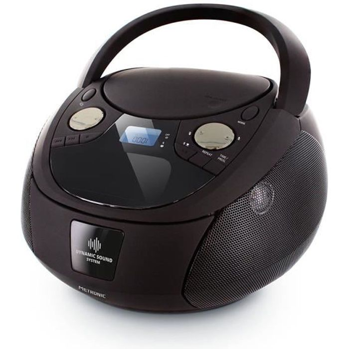 Lecteur CD Dynamic Sound MP3 Bluetooth avec port USB