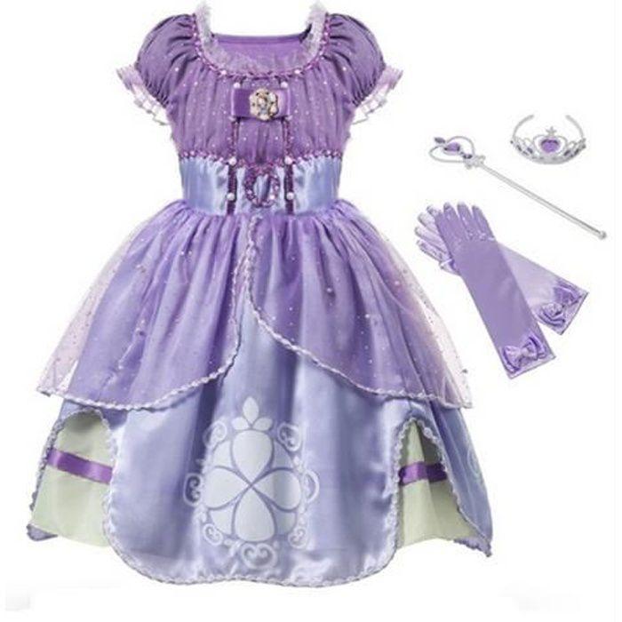 Déguisement pour enfants Princesse Sofia+3 Accessoires