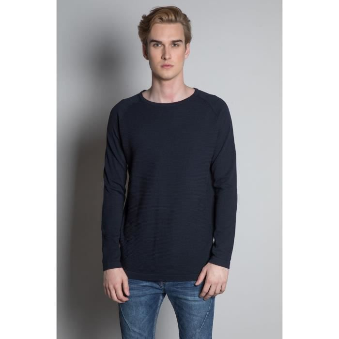 DEELUXE Pull uni col rond MITCHELL Navy