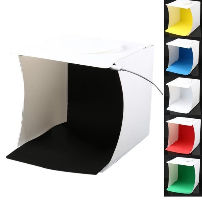 DIGITAL Mini Boîte De Studio De Photographie 8,9 x 9 x 9,5 Pouces Portable Ensemble De Lampe Boîte D'Éclairage Doux Avec 40 Lampes