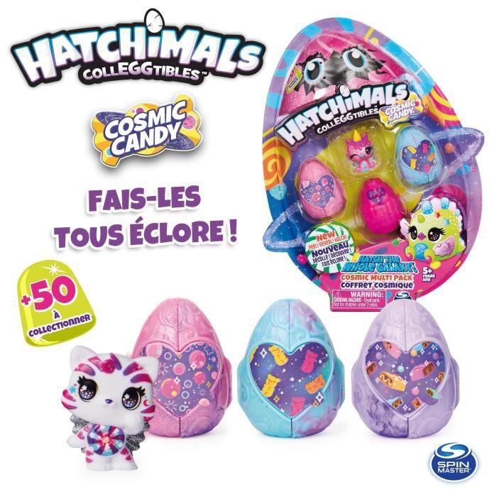 HATCHIMALS - COFFRET MULTIPACK 4 + accessoires Saison 8 - 6056399 - Mini univers jouet collectionnable enfant - Modèle aléatoire