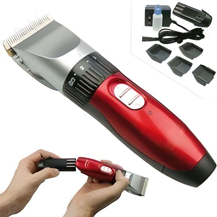 Tondeuse à cheveux rechargeable haute precision AVEC LAME EN CERAMIQUE IDEAL POUR LES ENFANTS /HOMMES / ANIMAUX