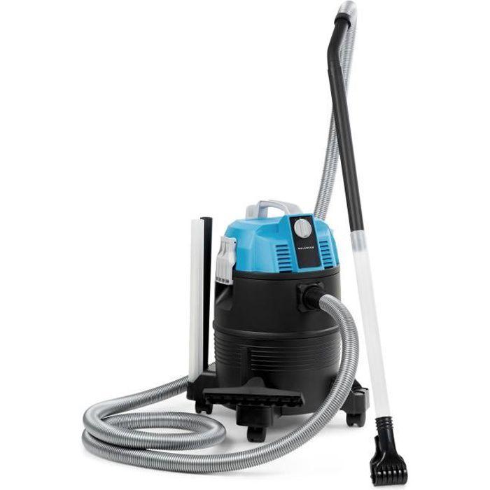 Waldbeck Lakeside Power Aspirateur eau et poussière 1400W - 18 kPa - Cuve 38L - Fonction soufflerie - pour bassins & piscines - bleu
