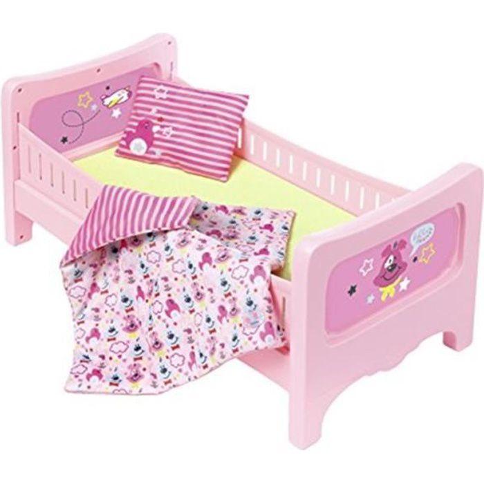 Accessoires pour poupées - Lit BABY born avec literie moelleuse