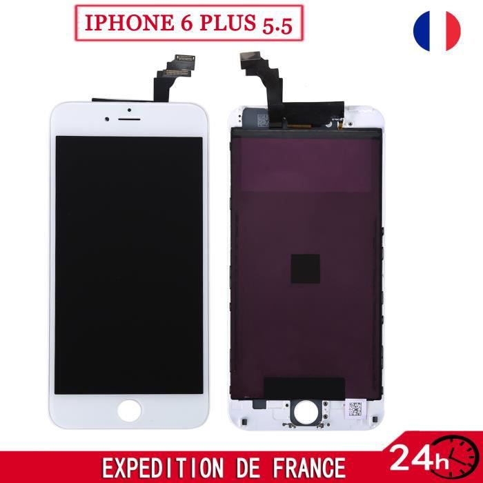 pour iphone 6 plus 5 5 ecran lcd vitre tactile sur chassis grille teste blanc achat pi ce. Black Bedroom Furniture Sets. Home Design Ideas