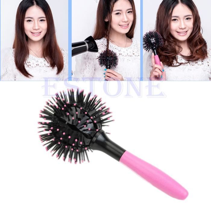 brosse 3d magique ondule cheveux style brushing achat vente brosse peigne brosse 3d. Black Bedroom Furniture Sets. Home Design Ideas