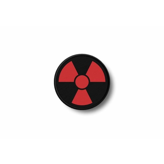 Patch ecusson brode imprime thermocollant radioactif nucleaire radiation symbol