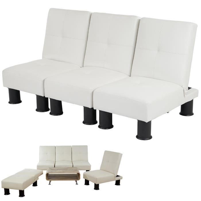 canap relax convertible lit d 39 amis lit d 39 appoint melbourne ii pu blanc achat vente. Black Bedroom Furniture Sets. Home Design Ideas