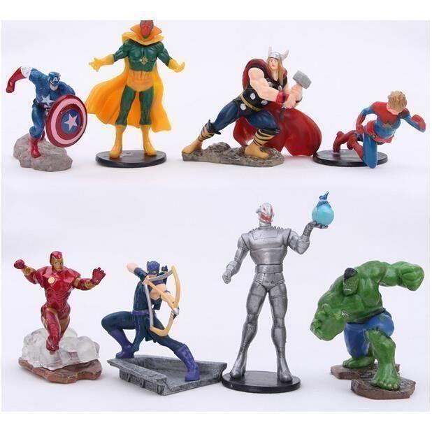 POUPÉE YSF@ 8 pièces The Avengers 2 poupées jouet Iron Ma