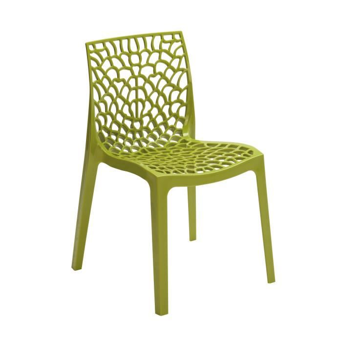 chaise design gruyere vert anis achat vente chaise verre bois polypropylene cdiscount. Black Bedroom Furniture Sets. Home Design Ideas