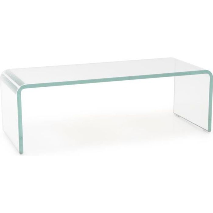 BUREAU  Plaque en verre cintrée transparent