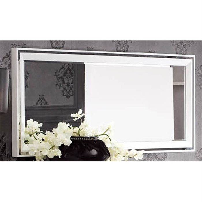 miroir design laque blanc alexandris achat vente. Black Bedroom Furniture Sets. Home Design Ideas
