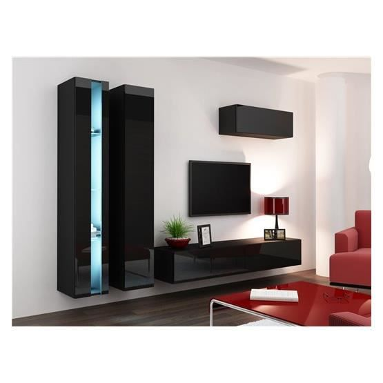 ensemble meuble tv mural malarmo noir achat vente meuble tv meuble tv malarmo nr cdiscount. Black Bedroom Furniture Sets. Home Design Ideas