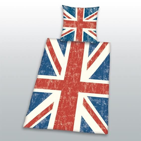 housse de couette et une taie 140 cm union jack achat. Black Bedroom Furniture Sets. Home Design Ideas