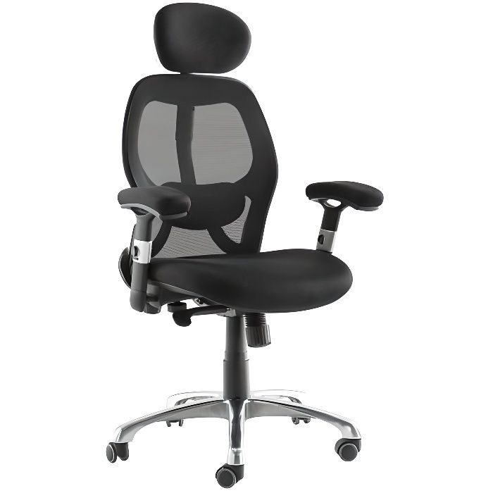 fauteuil de bureau ergonomique ultimate v2 plus achat vente chaise de bureau noir cdiscount. Black Bedroom Furniture Sets. Home Design Ideas
