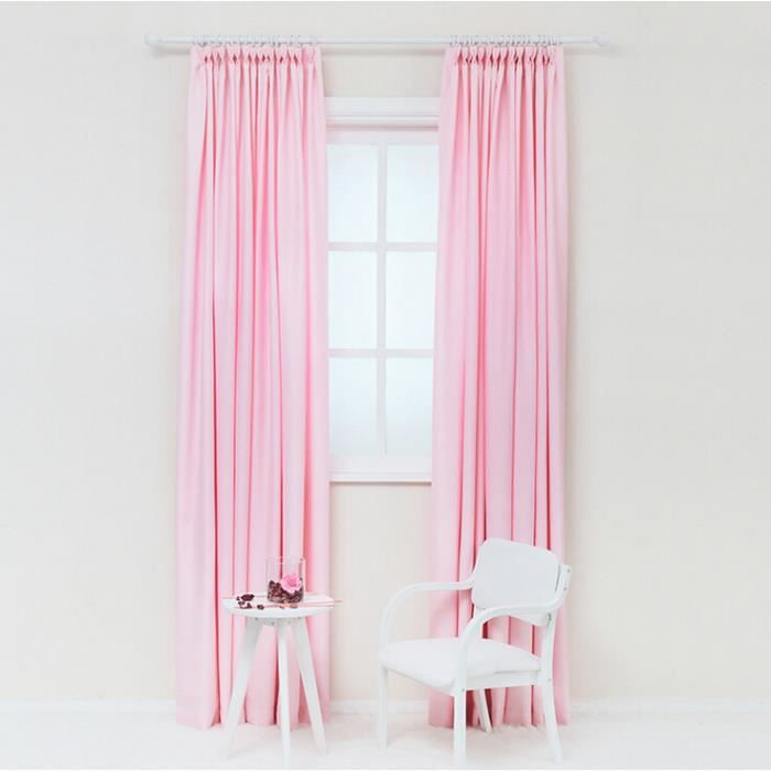 main fen tre de rideau de tulle rose pour le salon d 39 une seule pi ce achat vente rideau de. Black Bedroom Furniture Sets. Home Design Ideas