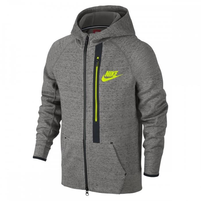 5b6f347b6538f Sweat Nike Tech Fleece Junior - Ref. 679307-063 Gris Gris - Achat ...