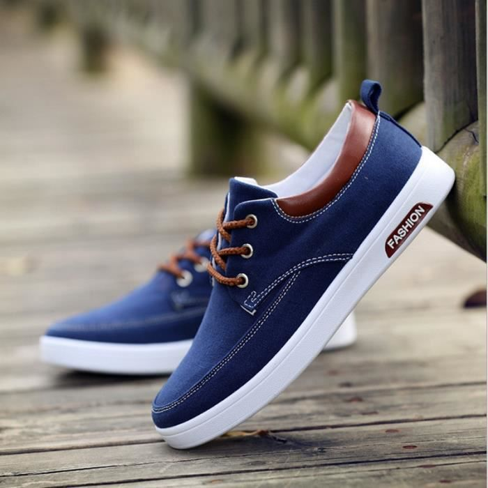 casual mode chaussure homme basket homme toile canvas shoes bleu marine achat vente basket. Black Bedroom Furniture Sets. Home Design Ideas