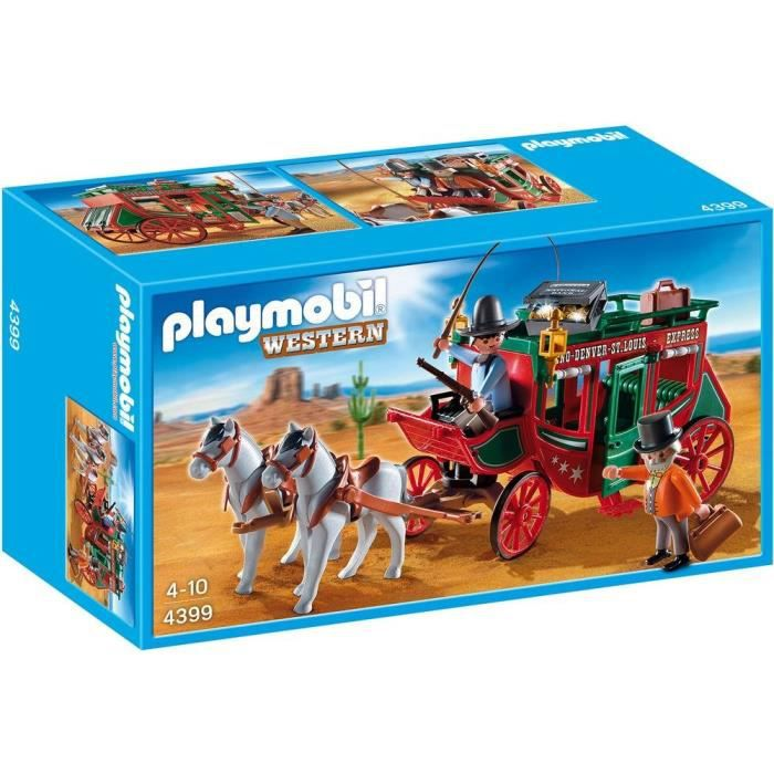 playmobil 4399 diligence western achat vente univers. Black Bedroom Furniture Sets. Home Design Ideas